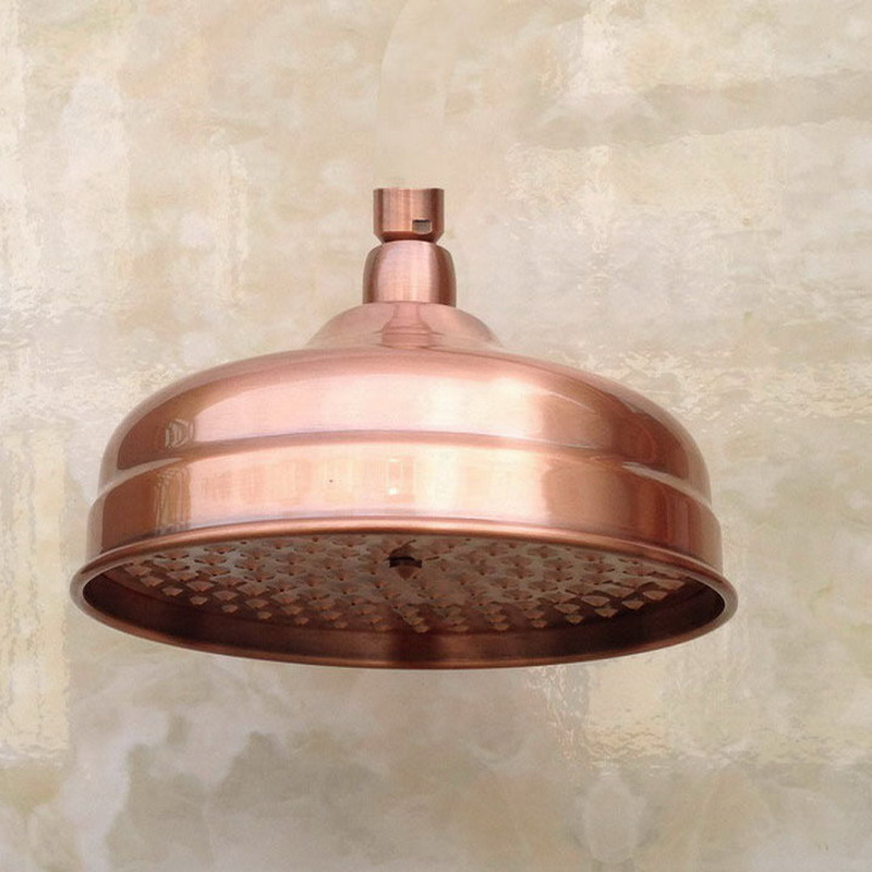 Copper Vintage Round Rain Shower Head