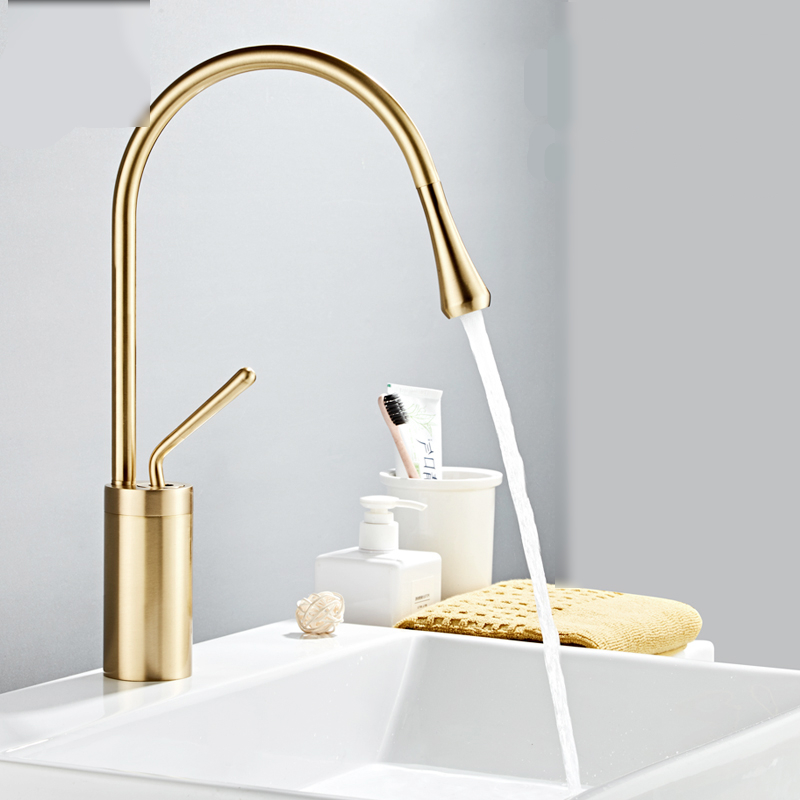 Modern Brushed Gold Long Basin