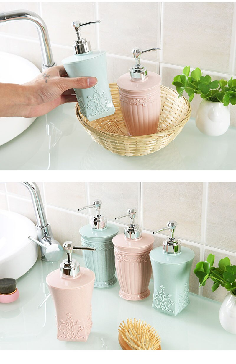 Pressing Plastic Refillable Cream Dispenser for Bathroom